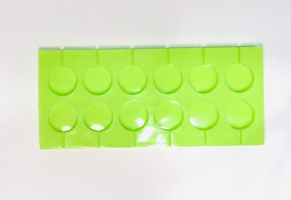 Форма силіконова для льодяників кружечки на 12 шт.