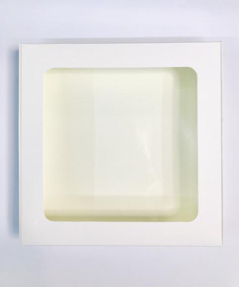 Коробка для пряників з віконцем 200*200*30 (Біла Цільна)