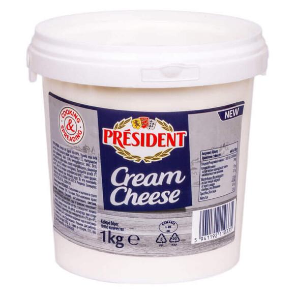 """Крем-сир 60% """"Президент"""" 1 кг."""