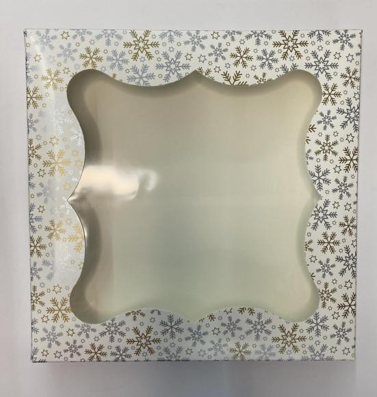Коробка для пряників з віконцем 200*200*30 (Зима)