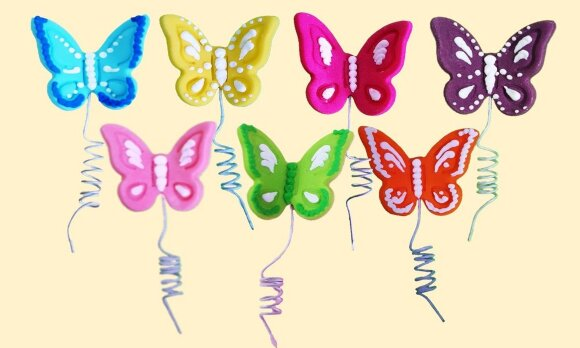 Святкові метелики 7шт