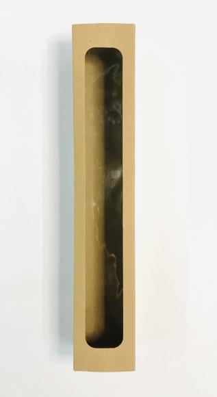 Коробка для макаронс з віконцем 300*50*50 (Бура)