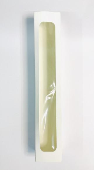 Коробка для макаронс з віконцем 170*55*55 (Біла)