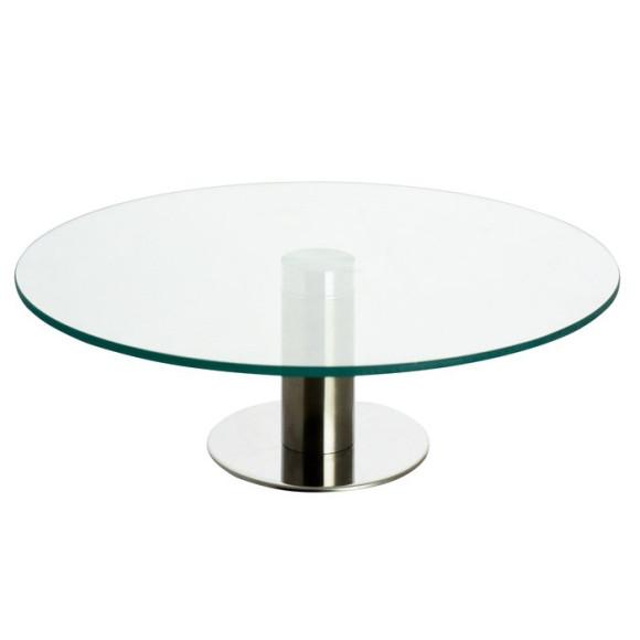Підставка під торт обертаюча скляна 300 мм.