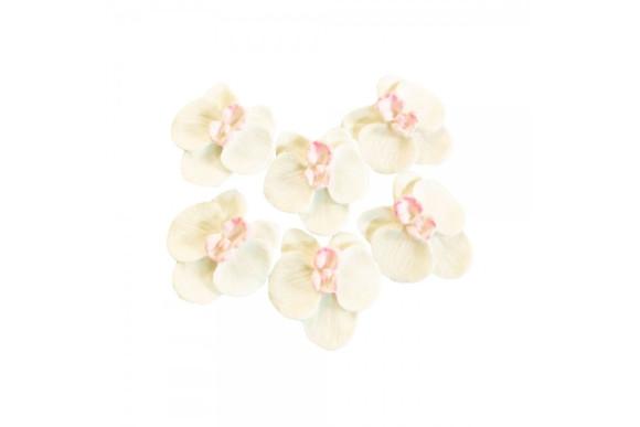 Орхідея D40мм біла 7 шт