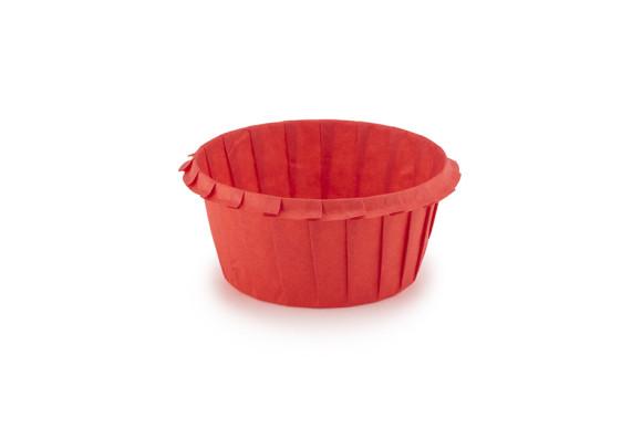 Тарталетка паперова з бортиком 55х35 Червона