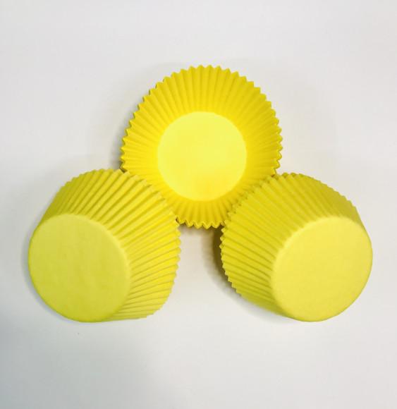 Формочки для мафіна жовтий 50/30 мм (20 шт.)