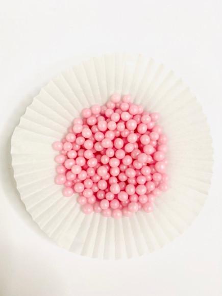 Цукрові кульки рожева перлина 5 мм 25гр.