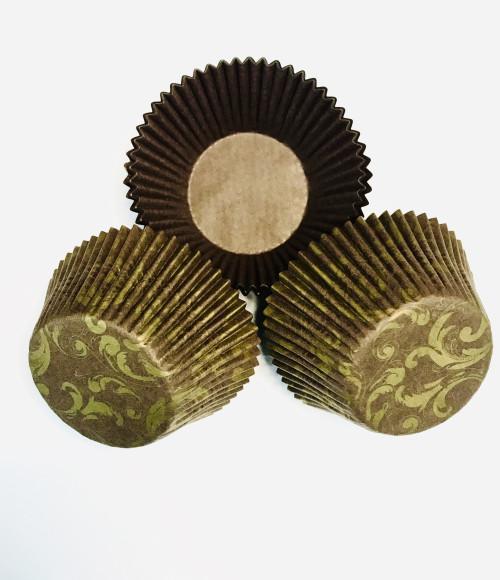 Формочки для мафіна коричнево-золоті 55/42 мм (20шт.)