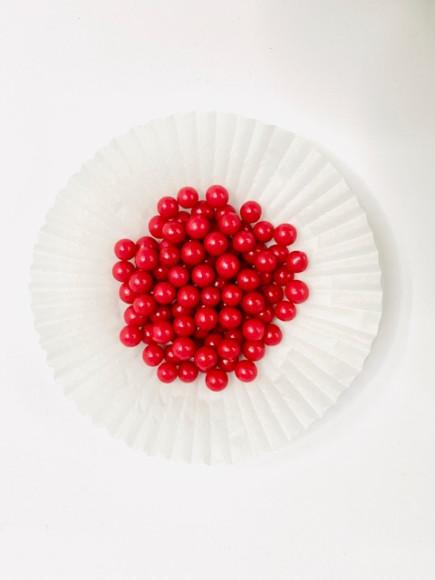 Цукрові кульки червоні 6 мм