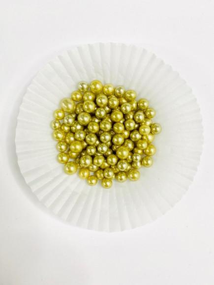 Цукрові кульки золоті 7 мм 25гр.