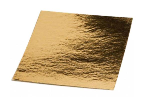 Підложка під торт квадратна Золото/Срібло 300*300мм