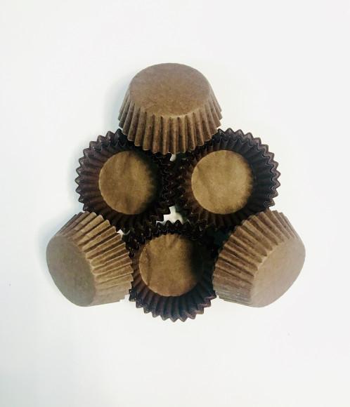 Формочки для цукерок коричневі 30/15 мм (20 шт.)