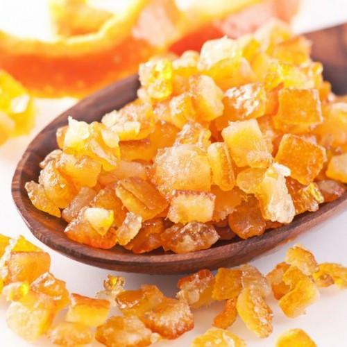 Зацукровані апельсинові кубики 6*6 мм 100 гр.