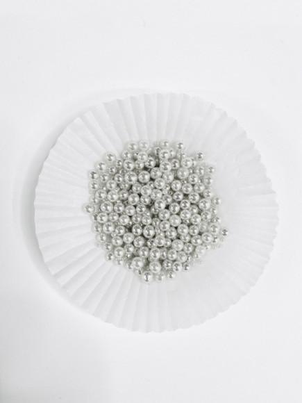 Цукрові кульки срібні 5 мм 25гр.