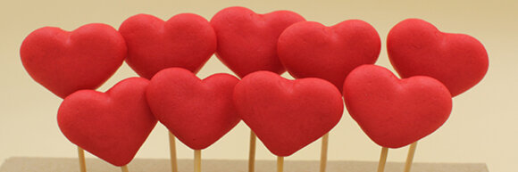 Сердечка 9 шт