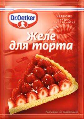Желе для торта (червоне) 8г (Dr.Oetker)