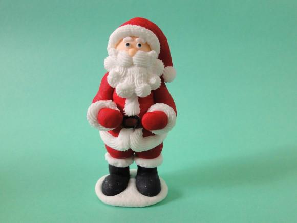 Цукрова прикраса Санта Клаус