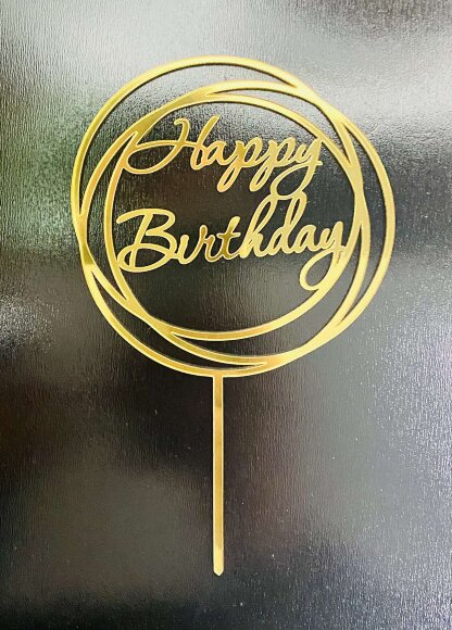 Акриловий топпер Happy Birthday № 3