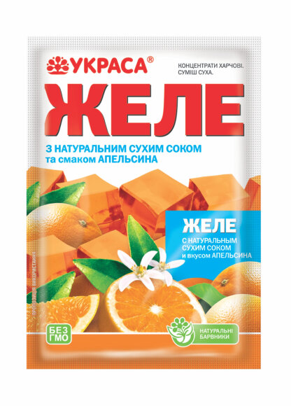 Желе Украса 90г Апельсин