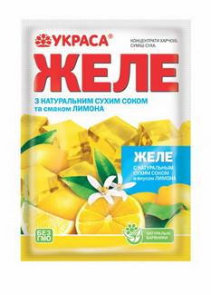Желе Украса 90г Лимон