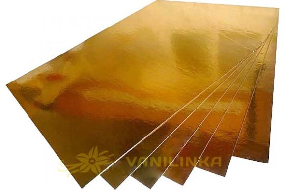 Підложка під торт прямокутна Золото/Срібло 300*400мм