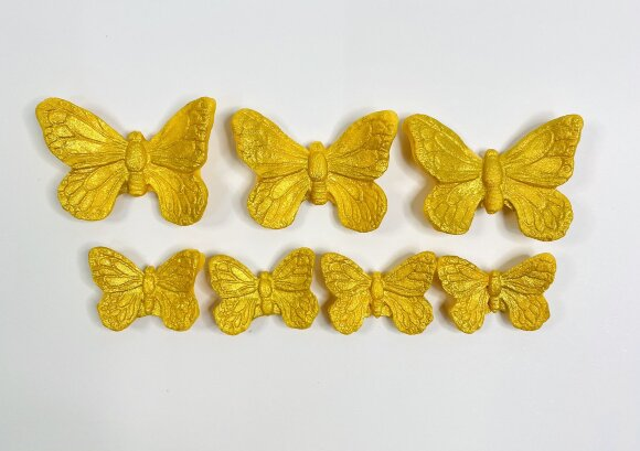 Метелики преміум золоті 7шт