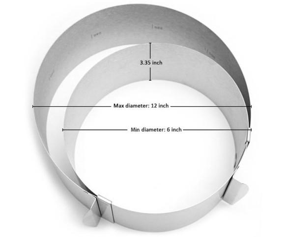 Форма розсувна для складання тортів кругла Ø160-300 / Н 80 мм