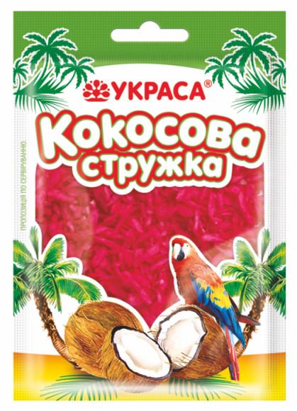 Кокосова стружка Украса 25г Вишнева