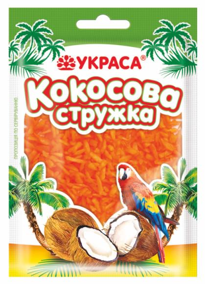 Кокосова стружка Украса 25г Оранж