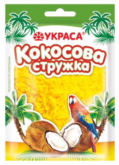 Кокосова стружка Украса 25г Жовта