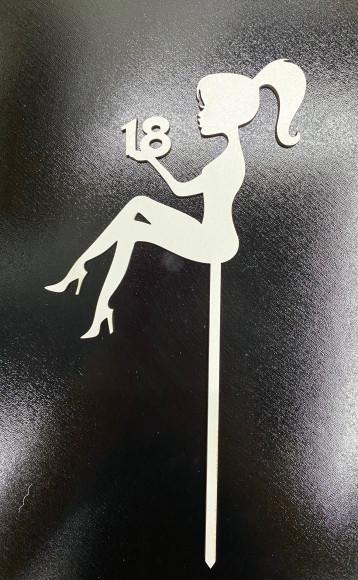 Топпер Дівчина з цифрою 18