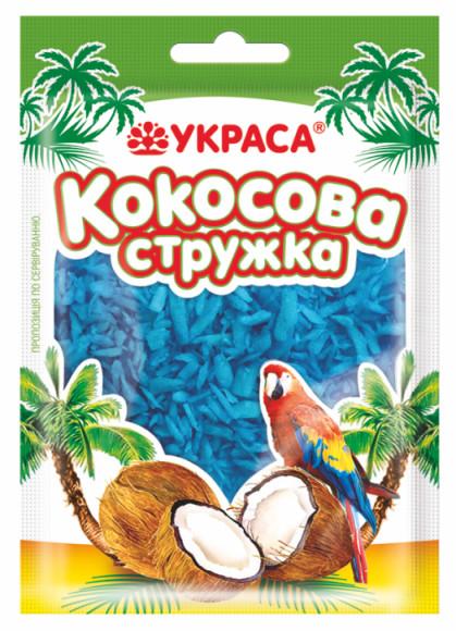 Кокосова стружка Украса 25г Блакитна