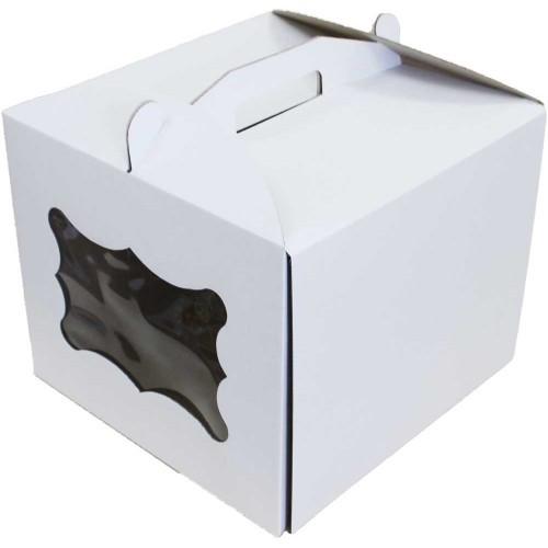Коробка для торта з віконцем 250*250*300 мм