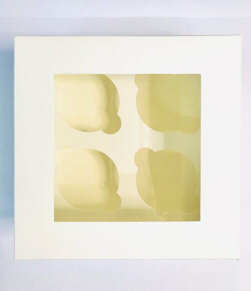 Коробка для мафінів з віконцем на 4 шт. 175*170*90 Біла