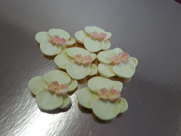 Орхідея D40мм лимонна 7шт.
